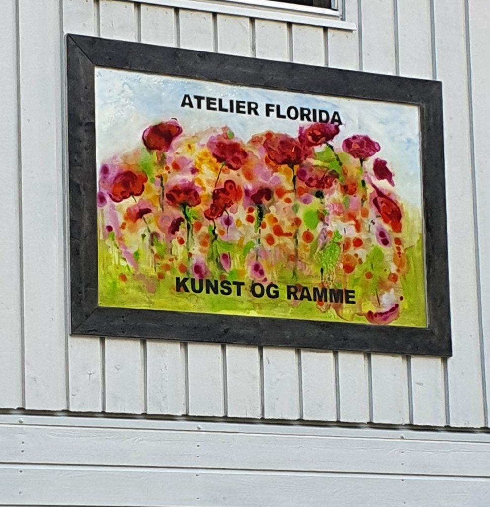 Atelier Florida kunst på vegg